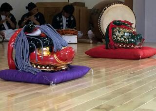 商工会記念式典の奉納獅子舞